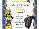Designer Birthday Invitations How to Create Minion Birthday Party Invitations Designs