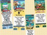 Designer Birthday Invitations Octonauts Birthday Invitations 10 Ea W Envelopes