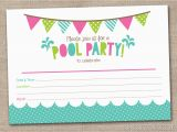 Designer Birthday Invitations Party Invitations Printable Pool Party Invitations
