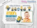 Despicable Me 1st Birthday Invitations 226 Best Minion Birthday Images On Pinterest Minion