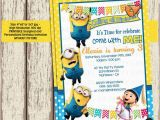 Despicable Me 1st Birthday Invitations Unavailable Listing On Etsy