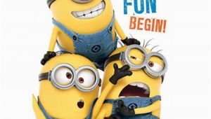 Despicable Me Birthday Cards Birthday Fun Minions Birthday Card with Door Hanger