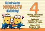 Despicable Me Birthday Invites Despicable Me Invitations Minion Birthday Party