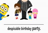 Despicable Me Birthday Invites Despicable Me Party Invitation Simple Living Creative