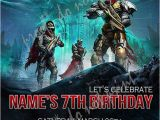 Destiny Game Birthday Card Personalized Photo Invitations Cmartistry Destiny the