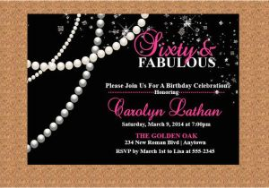Diamonds and Pearls Birthday Invitations 60th Birthday Invitation Milestone Birthday Invitation