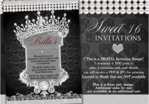 Diamonds and Pearls Birthday Invitations Diamond and Pearl Invitation Sweet 16 Invitation