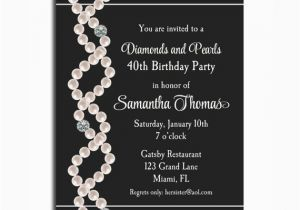 Diamonds and Pearls Birthday Invitations Diamonds and Pearls Invitation Printable Birthday
