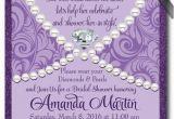 Diamonds and Pearls Birthday Invitations Diamonds Pearls Bridal Shower Invitation Diamonds