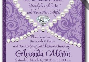 Diamonds and Pearls Birthday Invitations Diamonds Pearls Bridal Shower Invitation Diamonds