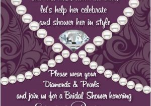 Diamonds and Pearls Birthday Invitations Dress Up the Quot Bride to Be Quot In Style with these Stylish and