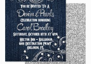 Diamonds and Pearls Birthday Invitations Eccentric Designs by Latisha Horton New Denim Diamond