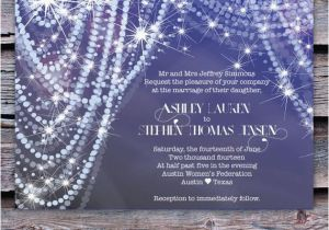 Diamonds and Pearls Birthday Invitations Wedding Invitation Diamonds and Pearls