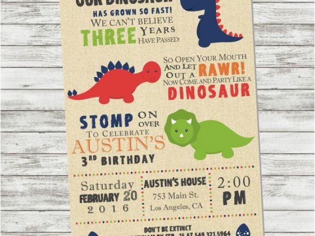 Download By SizeHandphone Tablet Desktop Original Size Back To Dinosaur Birthday Invitation Wording