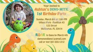 Dinosaur Birthday Invitations with Photo Dinosaur 1st Birthday Invitations Best Party Ideas
