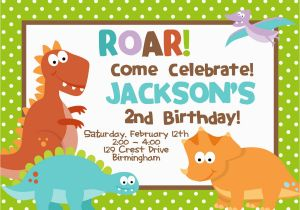 Dinosaur Birthday Party Invitation Wording Cretaceous Invitations Bagvania