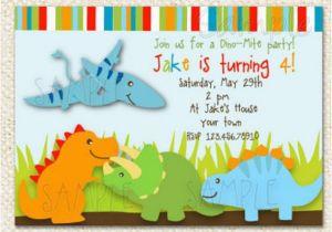 Dinosaur Birthday Party Invitation Wording Invitations Etsy
