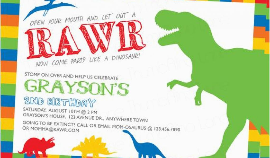 Download By SizeHandphone Tablet Desktop Original Size Back To Dinosaur Birthday Party Invitation Wording