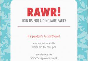 Dinosaur Birthday Party Invitation Wording For Invitations