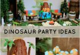 Dinosaur Decorations for Birthday Party Dinosaur themed 2nd Birthday Party Spaceships and Laser