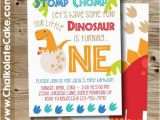 Dinosaur First Birthday Invitations Best 25 Dinosaur First Birthday Ideas On Pinterest