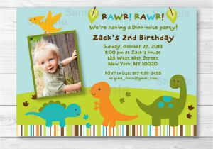 Dinosaur First Birthday Invitations Invitation Boy 1st