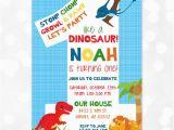 Dinosaur First Birthday Invitations Dinosaur Birthday Invitation Dino Party 1st Birthday T Rex