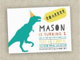 Dinosaur First Birthday Invitations Dinosaur Birthday Invitation First Birthday Invitation