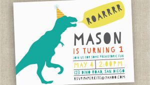 Dinosaur First Birthday Invitations Dinosaur Birthday Invitation First Birthday Invitation