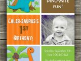 Dinosaur First Birthday Invitations Dinosaur Birthday Invitation Free Thank You Card
