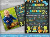 Dinosaur First Birthday Invitations Dinosaur Invitation Dinosaur Invite First Birthday