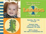 Dinosaur First Birthday Invitations Dinosaur themed First Birthday Custom Printable Photo