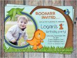 Dinosaur First Birthday Invitations Lil 39 Dino First Birthday Invitation