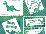 Dinosaur Happy Birthday Banner Svg Dino Stock Images Royalty Free Images Vectors