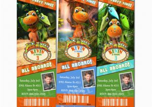 Dinosaur Train Birthday Invitations Free Custom Party Invitation Ticket Ebay