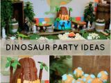 Dinosaurs Birthday Decorations Dinosaur themed 2nd Birthday Party Spaceships and Laser