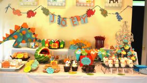 Dinosaurs Birthday Decorations Dinosaur themed Birthday Party the Baking Way