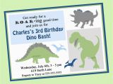Dinosaurs Birthday Invitations Printable Dinosaur Birthday Invitation Printable or Printed with Free