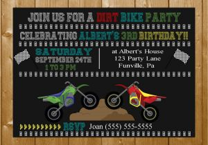 Dirt Bike Birthday Invitations Invitation Boy Motorcross