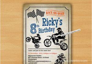 Dirt Bike Birthday Invitations Invitation Motocross For Any
