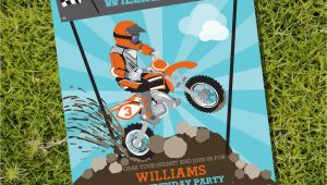 Dirt Bike Birthday Invitations Dirt Bike Party Invitation Motorbike Party Motocross Party