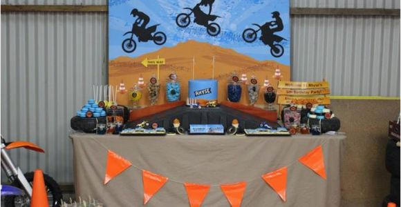 Dirt Bike Birthday Party Decorations Kara 39 S Party Ideas Dirt Bike themed Birthday Party with