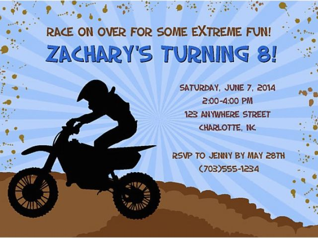 Download By SizeHandphone Tablet Desktop Original Size Back To Dirt Bike Birthday Party Invitations