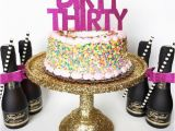 Dirty 30 Birthday Decorations Dirty Thirty Cake topper Birthday Party Party by