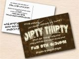 Dirty 30 Birthday Invitation Templates Dirty Thirty Birthday Invitations Best Party Ideas