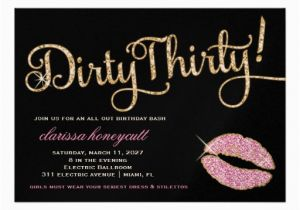 Dirty 30 Birthday Invitation Templates Personalized Dirty Thirty Invitations