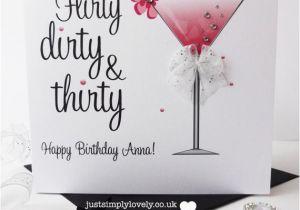 Dirty Thirty Birthday Cards Flirty Dirty Thirty Birthday Card