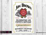Discount Birthday Invitations Jim Beam Birthday Digital Printable Invitation Template