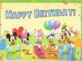 Disney Birthday Cards Online Disney Happy Birthday Clipart Clipart Suggest