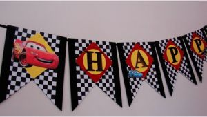 Disney Cars Happy Birthday Banner Disney Cars Birthday Banner Cars Birthday Banner Mcqueen